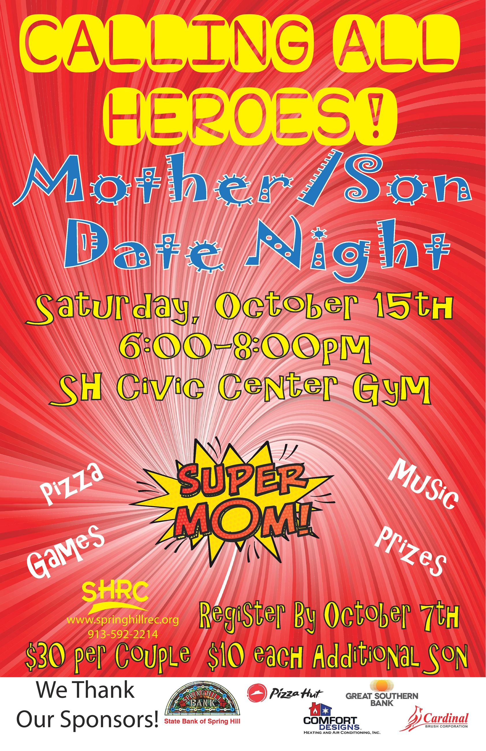 Mother Sign Date Night Flier